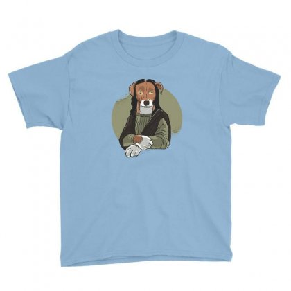 Dog Mona Youth Tee Designed By Disgus_thing