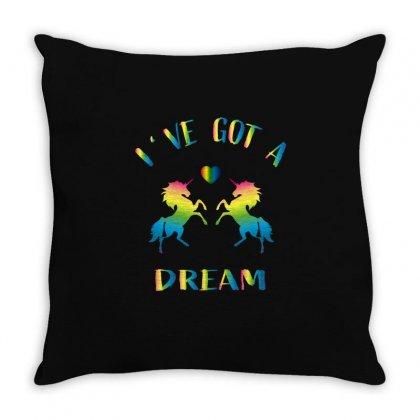 Ive Got A Dream Throw Pillow Designed By Omer Acar