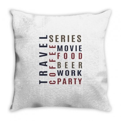 Coffee , Food, Beer.. Throw Pillow Designed By Chris Ceconello