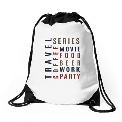 Coffee , Food, Beer.. Drawstring Bags Designed By Chris Ceconello