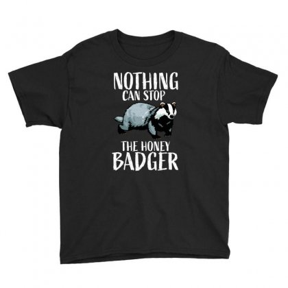Nothing Can Stop The Honey Badger,, Honey Badger, Honey Badger Apparel Youth Tee Designed By Omer Acar