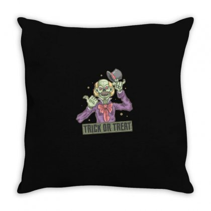 Trick Or Treat Throw Pillow Designed By Disgus_thing