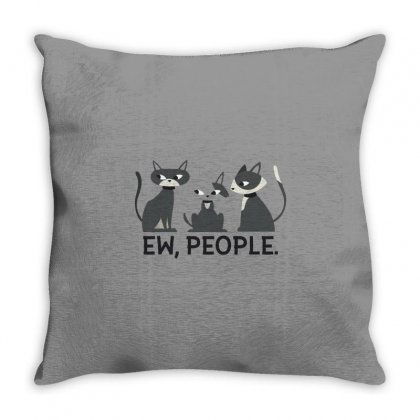 Catshirt Throw Pillow Designed By Disgus_thing