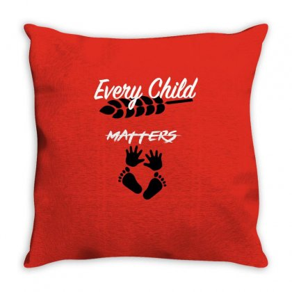 Orange Shirt Day Every Child Matters 2019 Throw Pillow Designed By Omer Acar