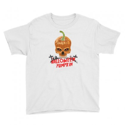 Hallowen Pumpkin Youth Tee Designed By Disgus_thing