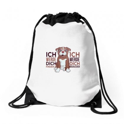 Dog Love Drawstring Bags Designed By Disgus_thing