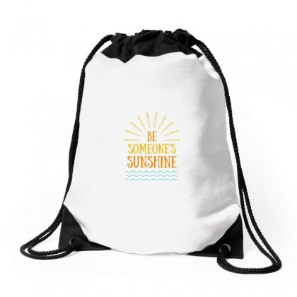 Be Someone Drawstring Bags Designed By Ramez Emad