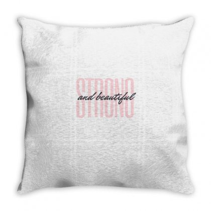 Strong And Beautiful Throw Pillow Designed By Ramez Emad