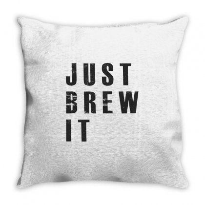 Just Brew It Throw Pillow Designed By Chris Ceconello