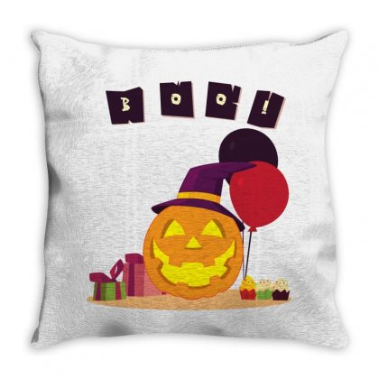 Pumpkin Party Throw Pillow Designed By Emardesign