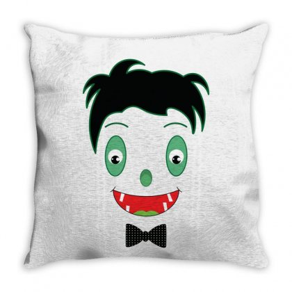 Baby Dracula Face Throw Pillow Designed By Emardesign