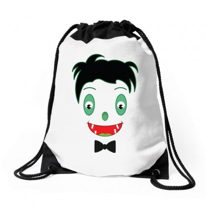 Baby Dracula Face Drawstring Bags Designed By Emardesign