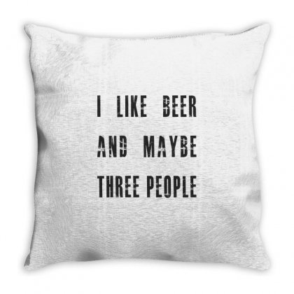 I Like Beer Throw Pillow Designed By Chris Ceconello