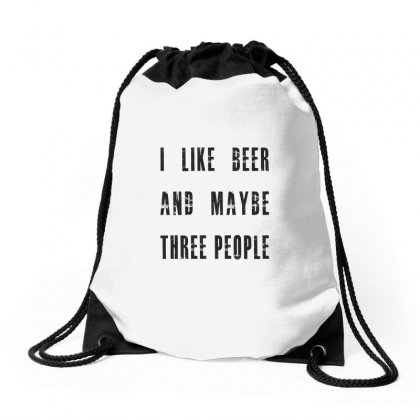 I Like Beer Drawstring Bags Designed By Chris Ceconello