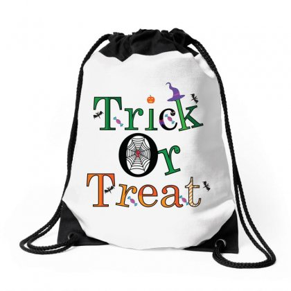 Trick Or Treat Drawstring Bags Designed By Emardesign