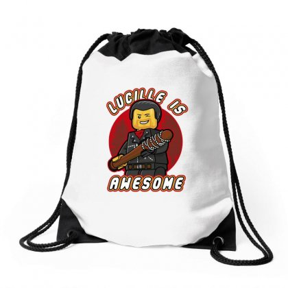 Lucille Is Awesome Drawstring Bags Designed By Shadowart