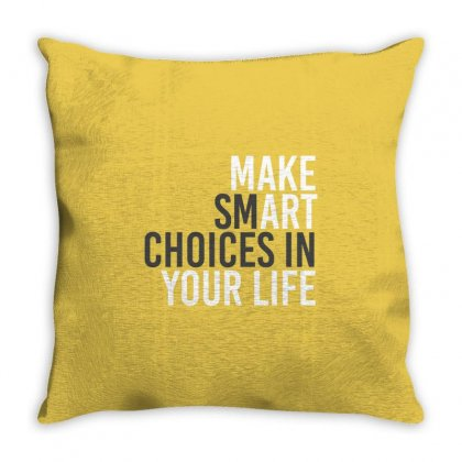 Make Smart Throw Pillow Designed By Shadowart