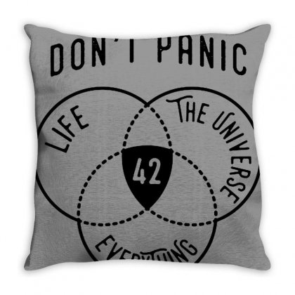 42 The Answer To Life Merch Throw Pillow Designed By Arum
