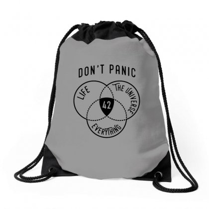 42 The Answer To Life Merch Drawstring Bags Designed By Arum