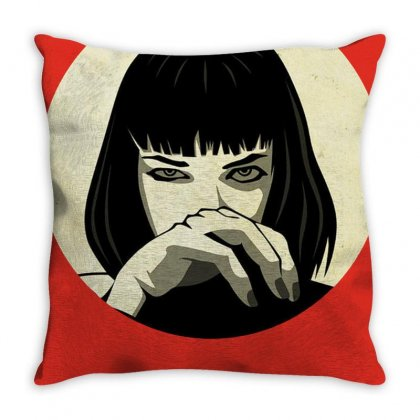 Aesthetic Pulp Merch Throw Pillow Designed By Arum