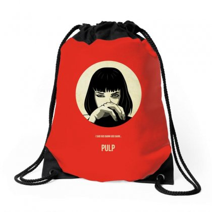Aesthetic Pulp Merch Drawstring Bags Designed By Arum