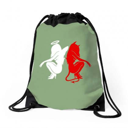Dance With The Devil Drawstring Bags Designed By Arum