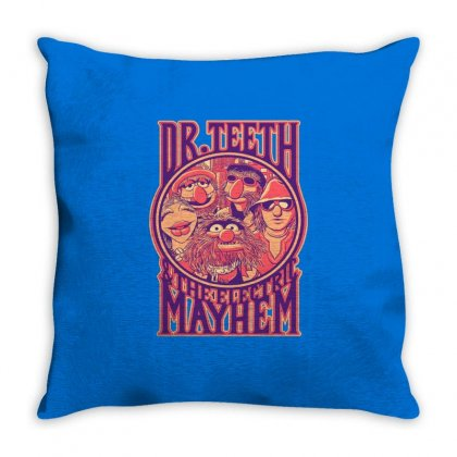 Dr Teeth Merch Throw Pillow Designed By Arum