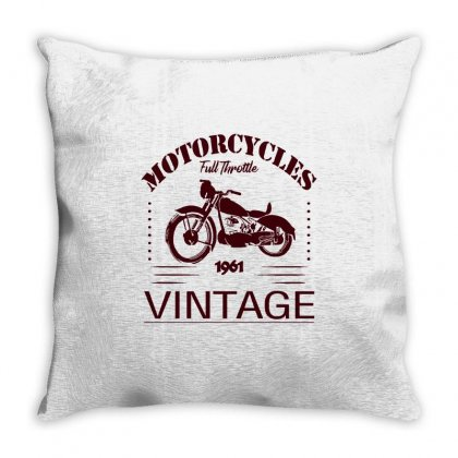Motorcycle T Shirt Throw Pillow Designed By Shadowart