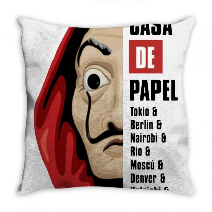 La Casa De Papel Throw Pillow Designed By Arum