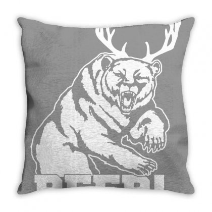 Macs Bear Throw Pillow Designed By Arum