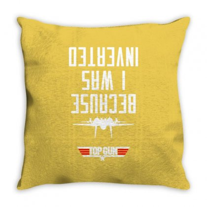 Because I Was Inverted Merch Throw Pillow Designed By Arum