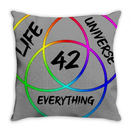 42 The Answer To Life Merch Throw Pillow Designed By Agus Loli