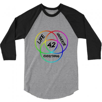 42 The Answer To Life Merch 3/4 Sleeve Shirt Designed By Agus Loli