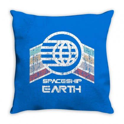 Earth With Distressed Logo Throw Pillow Designed By Arum