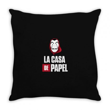 La Casa De Papel Throw Pillow Designed By Agus Loli