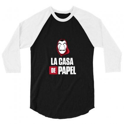La Casa De Papel 3/4 Sleeve Shirt Designed By Agus Loli