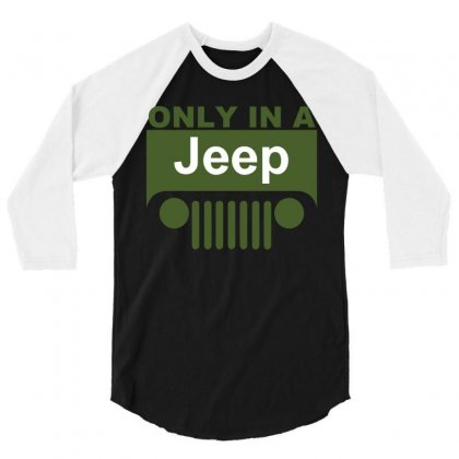 Jeep 3/4 Sleeve Shirt Designed By Markshop