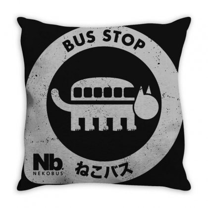 Nb Nekobus Throw Pillow Designed By Agus Loli