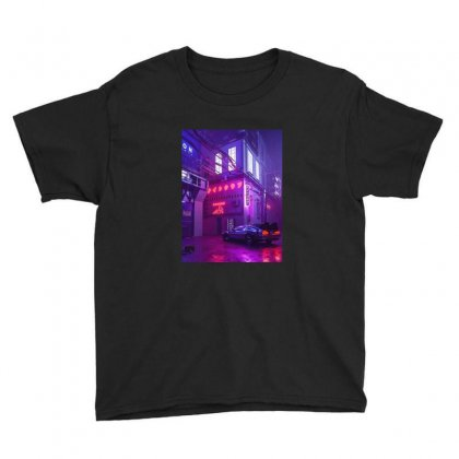 Outrun Retrowave Merch Youth Tee Designed By Agus Loli