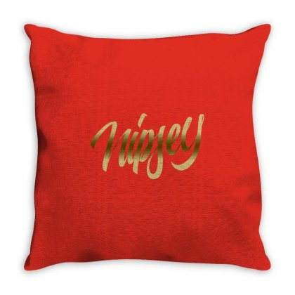 Nipsey Hussle Gold Throw Pillow Designed By Shadowart