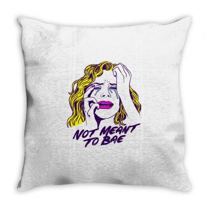 Not Meant To Bae Throw Pillow Designed By Shadowart