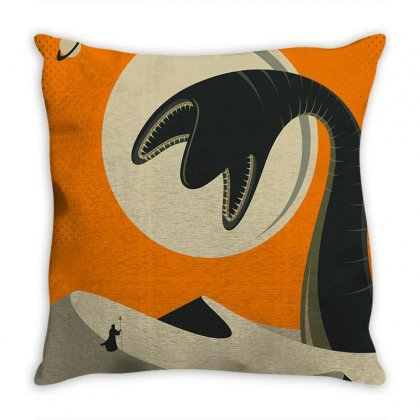 Visit The Arrakis Throw Pillow Designed By Agus Loli