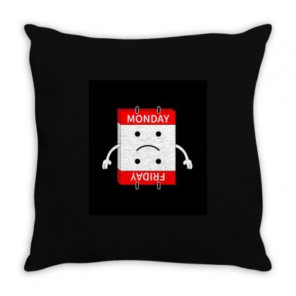 Mon Fri Throw Pillow Designed By Madandaku