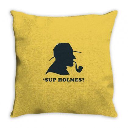 Holmes Throw Pillow Designed By Disgus_thing