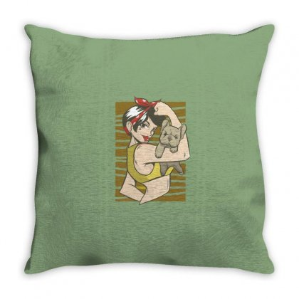 Bulldog Throw Pillow Designed By Disgus_thing