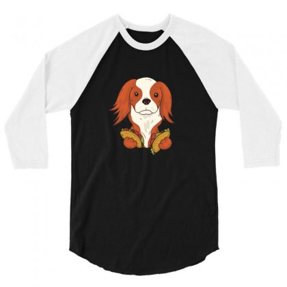 Taco Puppy 3/4 Sleeve Shirt Designed By Disgus_thing