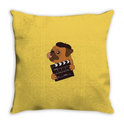 Pug Director Throw Pillow Designed By Disgus_thing