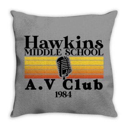 Hawkins Middle School Av Club For Light Throw Pillow Designed By Seda