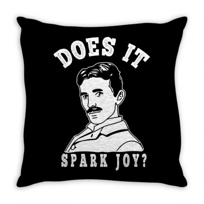 Does It Spark Joy Throw Pillow Designed By Gurkan