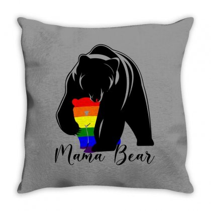 Mama Bear For Light Throw Pillow Designed By Seda